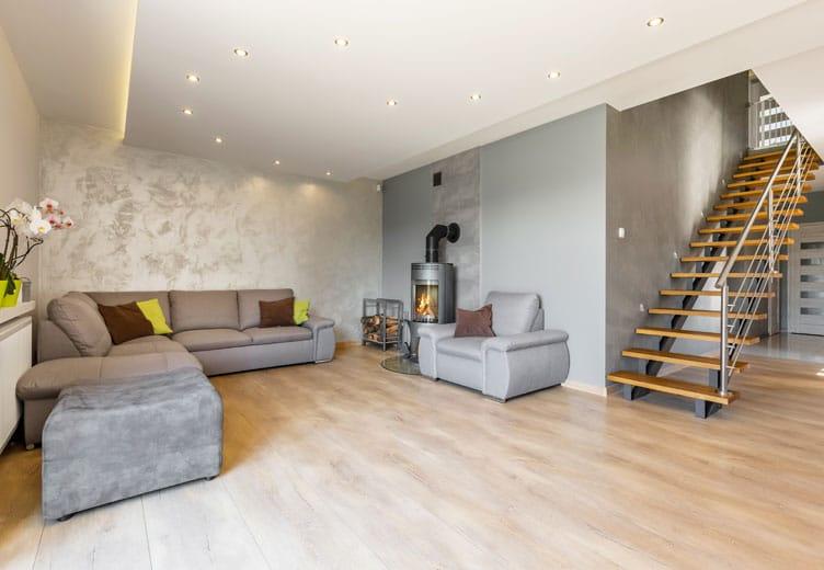 decke-verkleiden-trockenbau-bonn-wohnzimmer - Stuck Becker