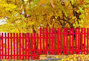 Lackierarbeiten Bonn: Zaun in rot