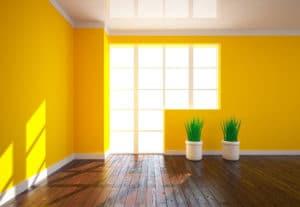 Maler Bonn: Gelb angestrichener Innenraum