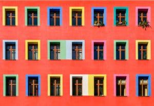 Malerarbeiten Bonn: bunte Hausfassade vom Maler Bonn