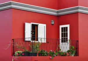 Putz Bonn rot verputzte Hausfassade